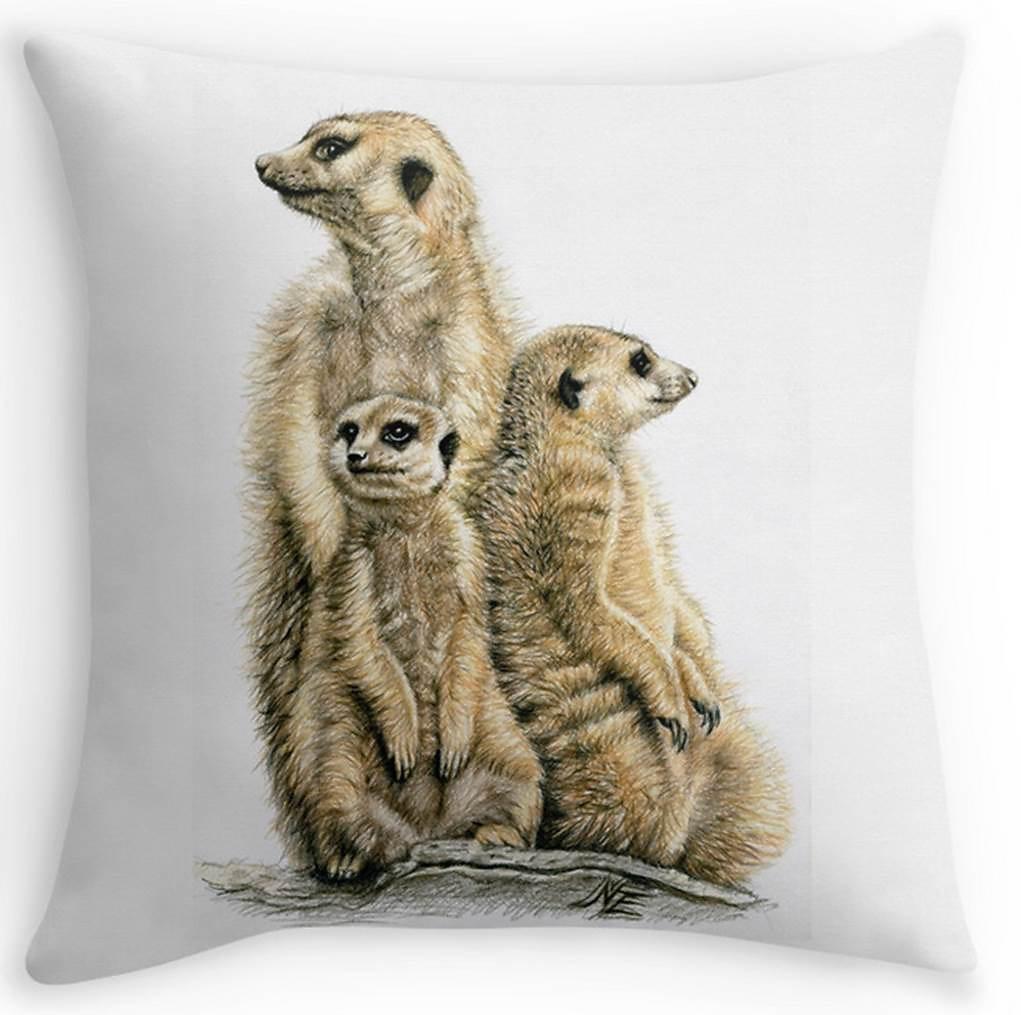 Meerkats Pillow - Erdmännchen Kissen