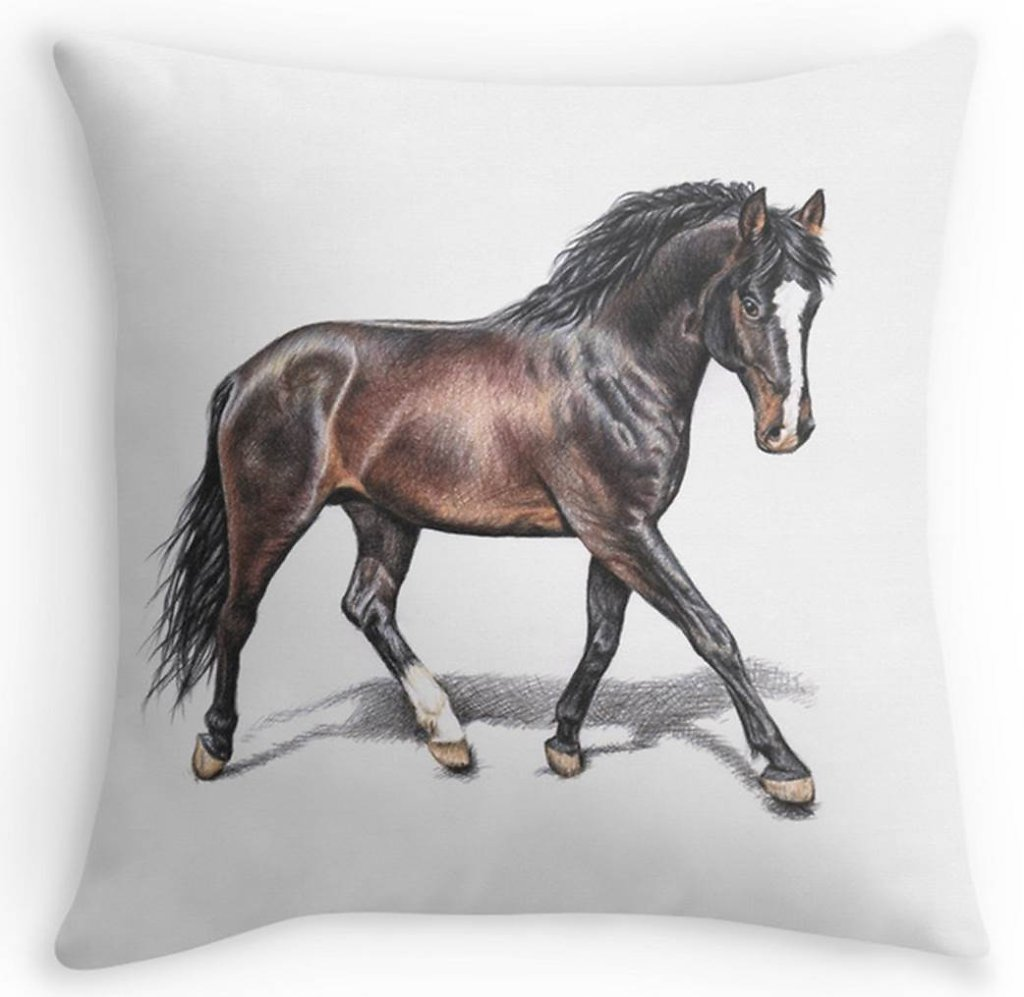 Hannoveraner Pferd Kissen- Horse Pillow