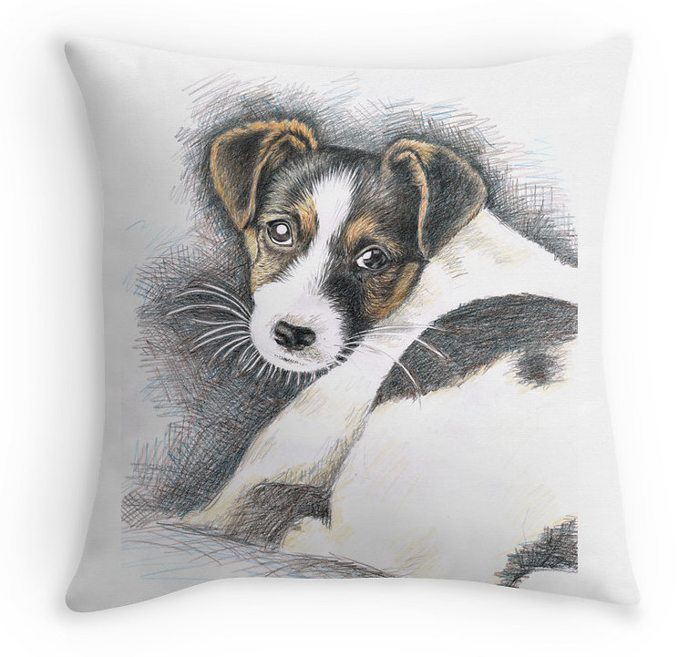 Jack-Russell-Terrier Pillow - Kissen