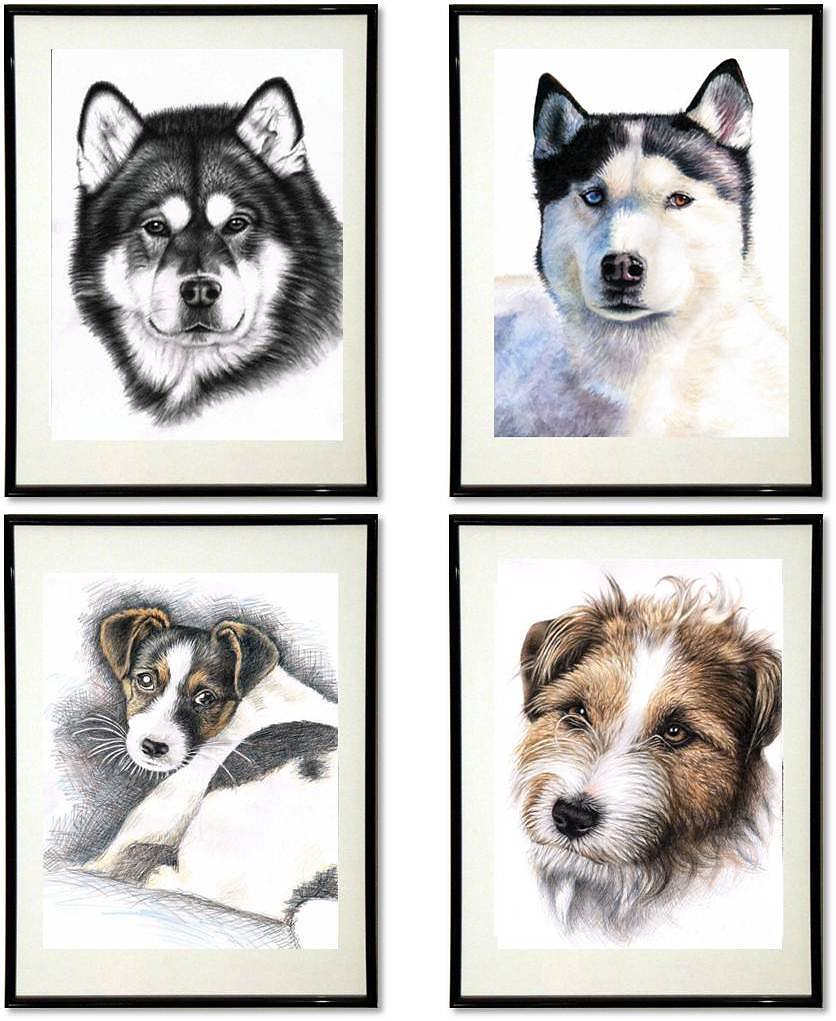 Dogs Fine-Art-Print - Hunde Kunstdrucke